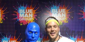 "Colton Underwood, Star of ""The Bachelor"" Attends Blue Man Group Las Vegas"