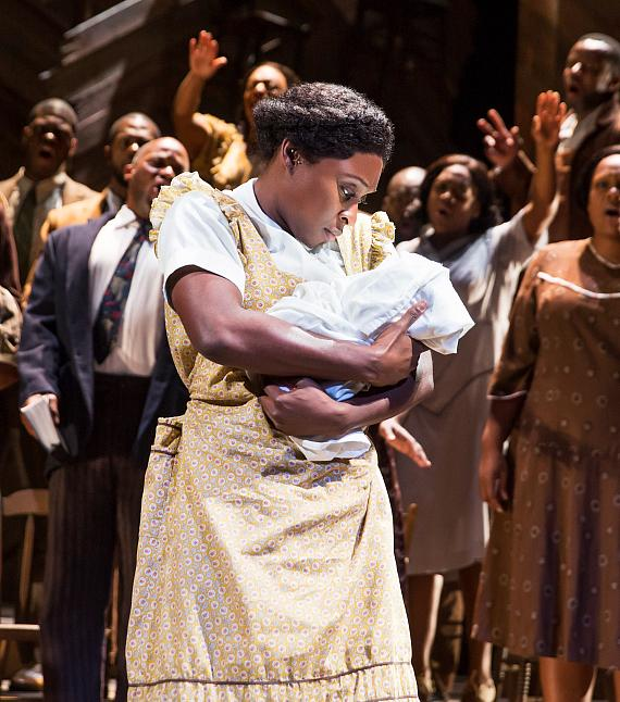 Cynthia Erivo in The Color Purple on Broadway