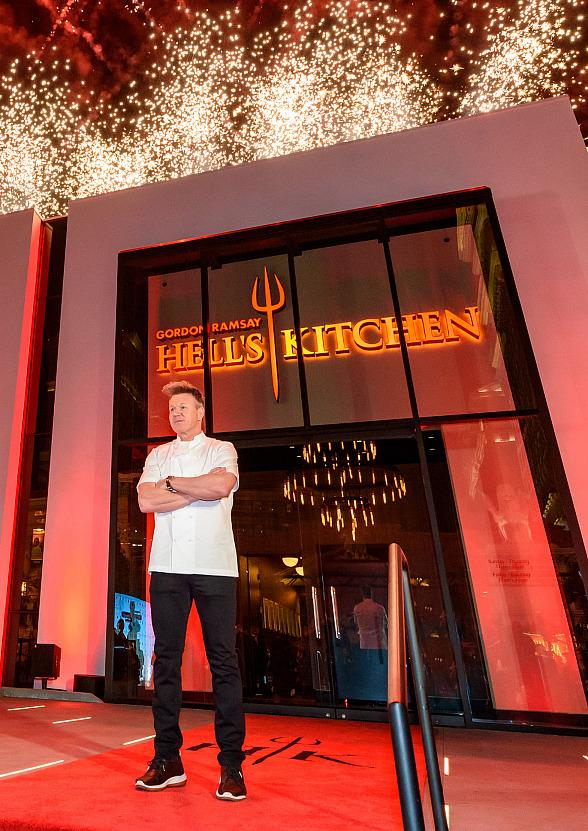 World's First Gordon Ramsay Hell's Kitchen Restaurant Marks Official Grand Opening at Caesars Palace Las Vegas