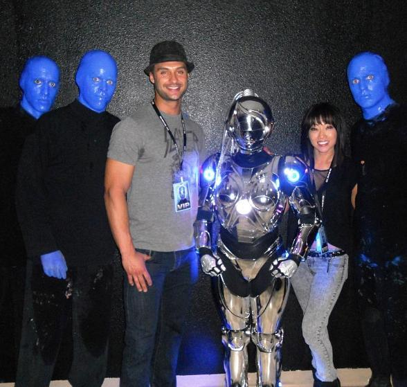 Chippendale James Davis Spotted at Blue Man Group at Monte Carlo Resort & Casino