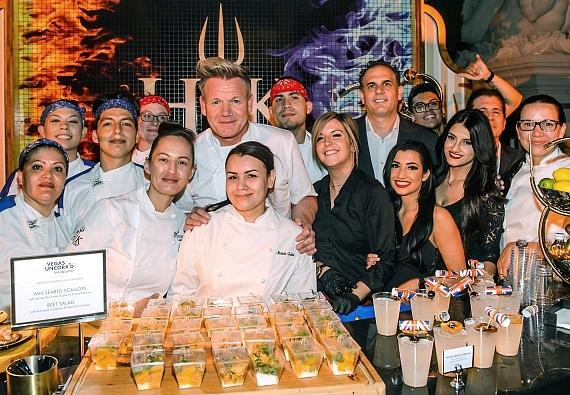 Gordon Ramsay with the team of Gordon Ramsay Hell's Kitchen at the Grand Tasting