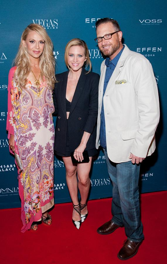 Andrea Bennett, Editor in Chief, Brittany Snow and Josef Vann, Publisher