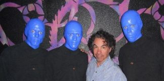John Oates Spotted at Blue Man Group Las Vegas at Monte Carlo Resort and Casino