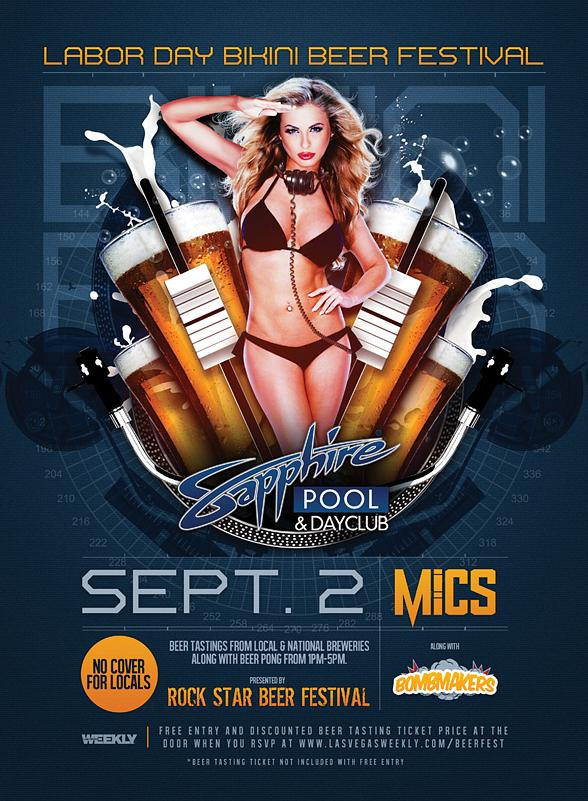Sapphire Pool & Dayclub to host Labor Day Bikini Beer Festival Monday, Sept. 2