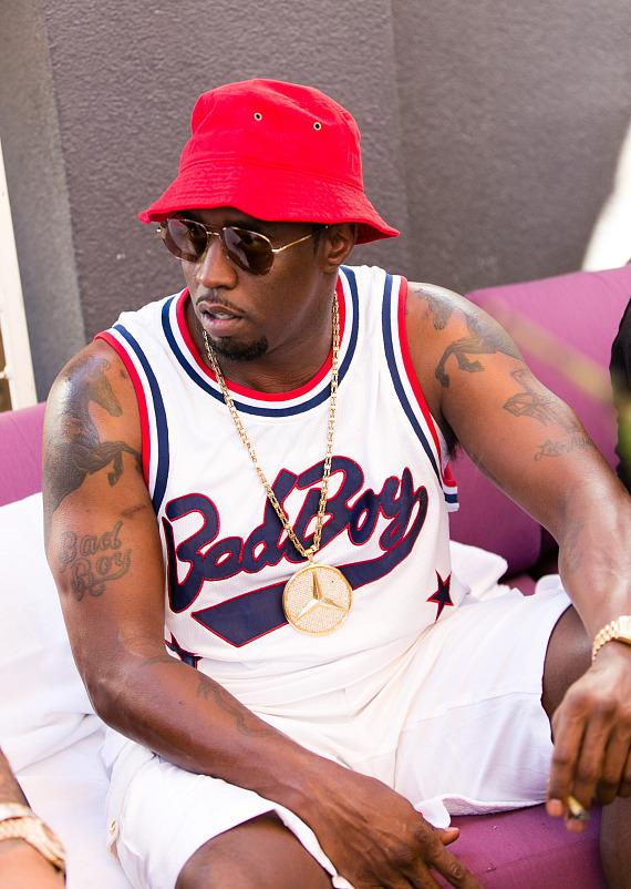 Puff Daddy at Rehab on Fight Weekend