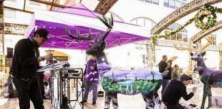 Reindeer for Charity Auction and other Holiday Event at Tivoli Village in Las Vegas