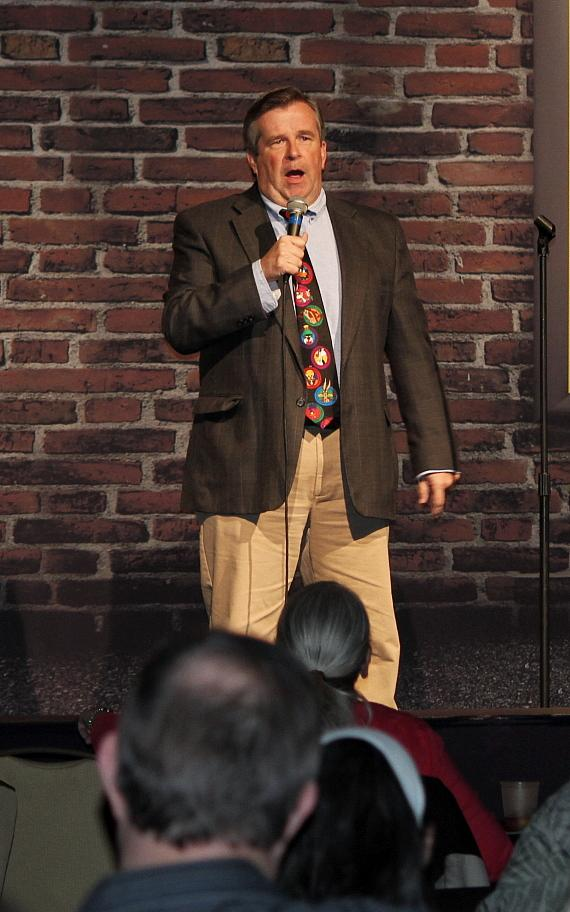 John Pate performs at Bonkerz Comedy Club inside Rampart Casino