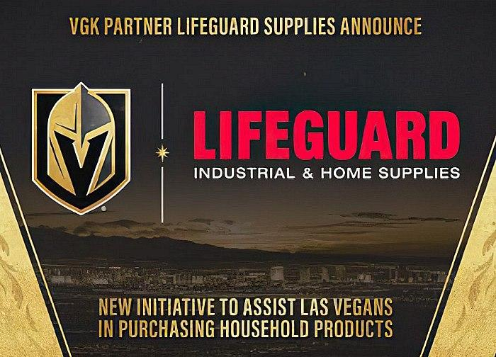 Vegas Golden Knights Partner Lifeguard Supplies Announce Second Community Event to Assist Las Vegas Valley Residents in Purchasing Household Products