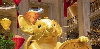 The Venetian Resort Welcomes Chinese New Year With Gilded Art Installation and Lion Dance