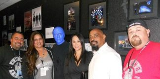 Sen Dog and Luciano Aguilar at Blue Man Group in Monte Carlo Resort and Casino