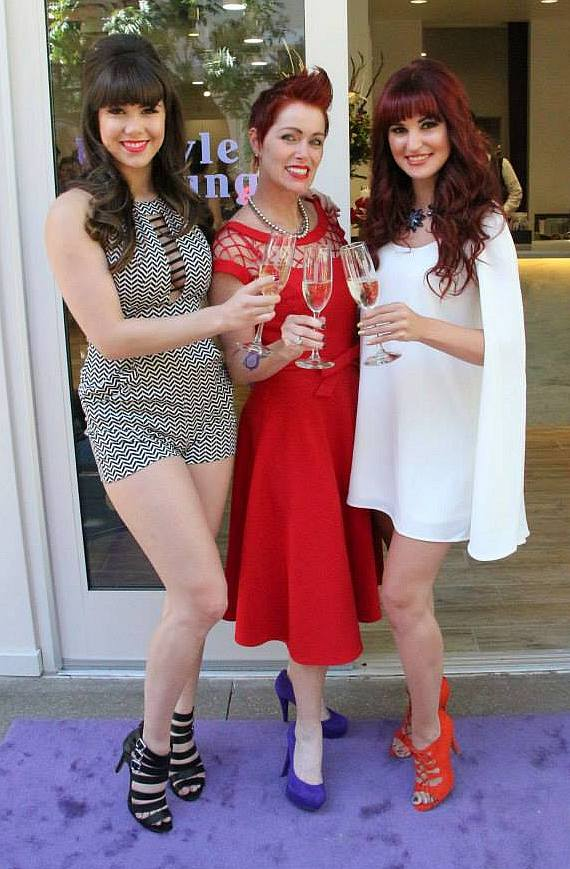 Claire Sinclair, Hairby Andeen and Lisa Marie Smith at The Style Lounge