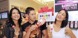 """The """"Twilight"""" wolf pack poses indulges in Sugar Factory sweets."""