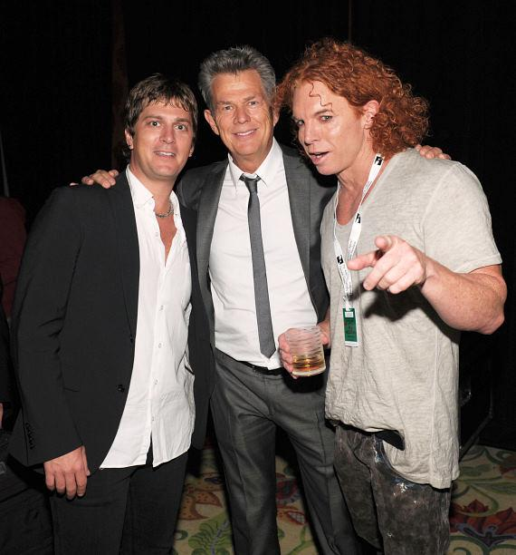 Singer Rob Thomas, musician/music producer David Foster and comedian Carrot Top