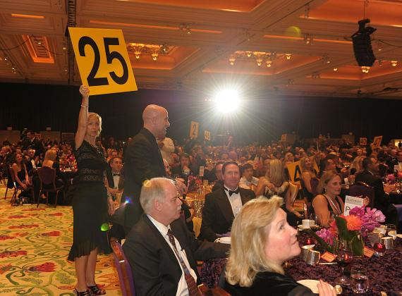 Andre Agassi during live benefit auction