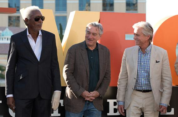 Morgan Freeman, Robert De Niro and Michael Douglas