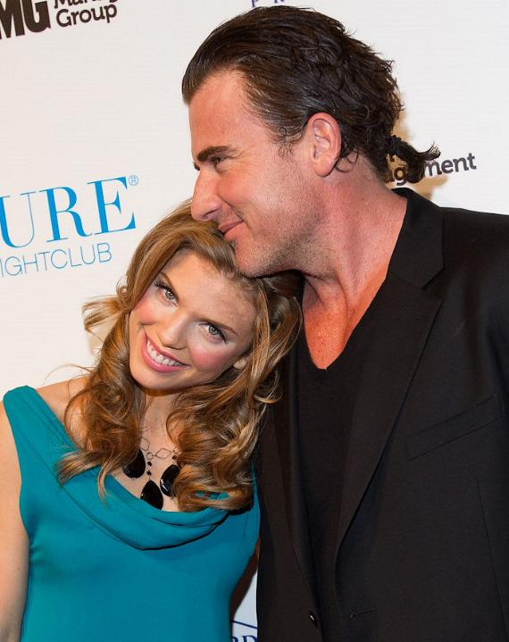 AnnaLynne McCord and her boyfriend Dominic Purcell at PURE Nightclub