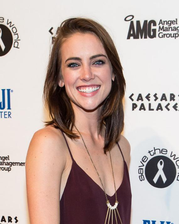 '90210' Starlet Jessica Stroup on red carpet at PURE Nightclub