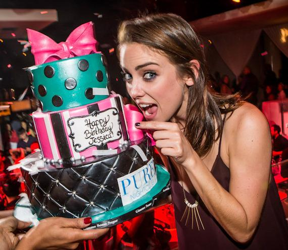 '90210' Starlet Jessica Stroup Celebrates Birthday at PURE Nightclub