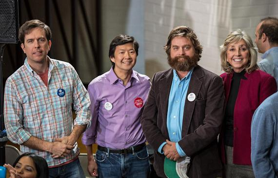 Ed Helms, Ken Jeong, Zach Galifianakis and Dina Titus