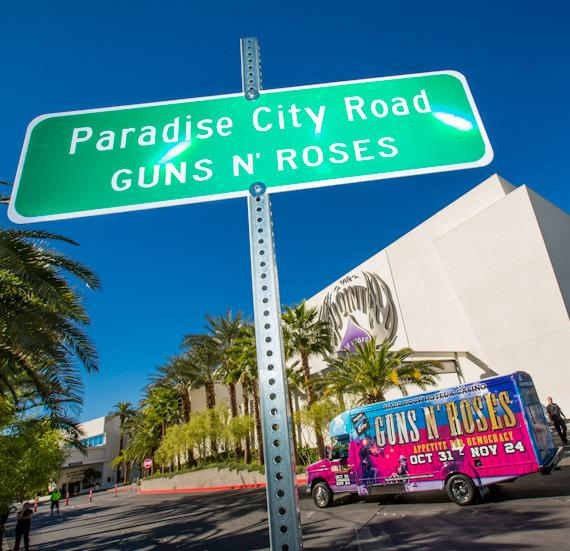 """""""Paradise City Road"""" sign at The Joint"""