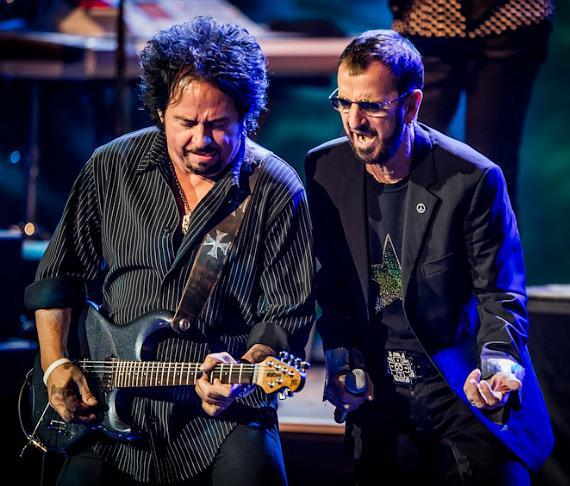 Guitarist Steve Lukather and Ringo Starr