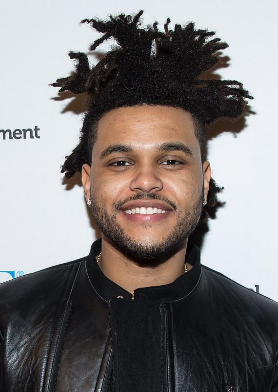 The Weeknd on red carpet at PURE Nightclub