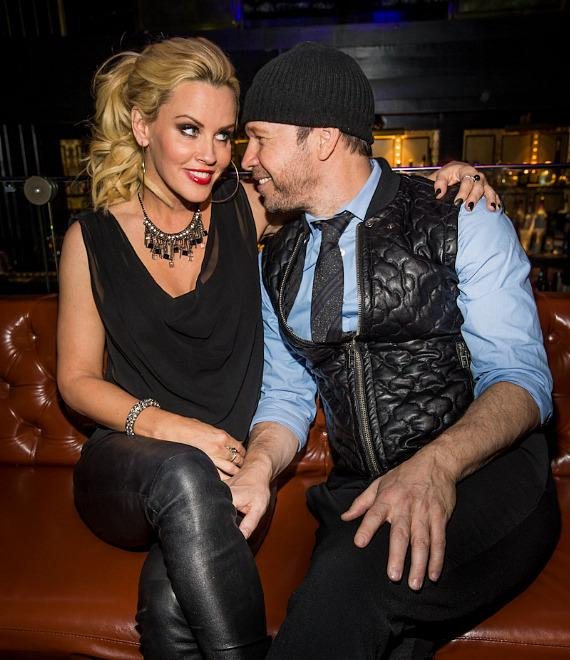 Jenny McCarthy and boyfriend Donny Wahlberg at Body English at Hard Rock Hotel Las Vegas