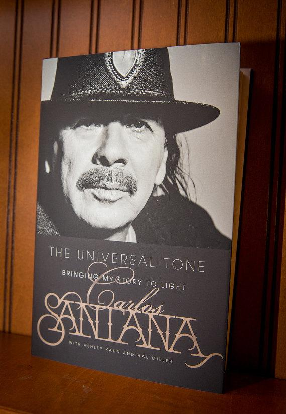 Carlos Santana Signs his Book