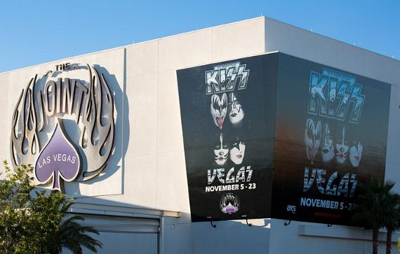 KISS poster on The Joint at Rock Hotel & Casino Las Vegas