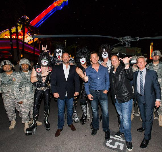 """KISS launches """"Kiss Rocks Vegas"""" with Helicopter arrival at Rock Hotel & Casino Las Vegas"""