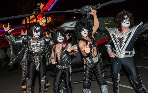 "KISS launches ""Kiss Rocks Vegas"" with Helicopter arrival at Rock Hotel & Casino Las Vegas"