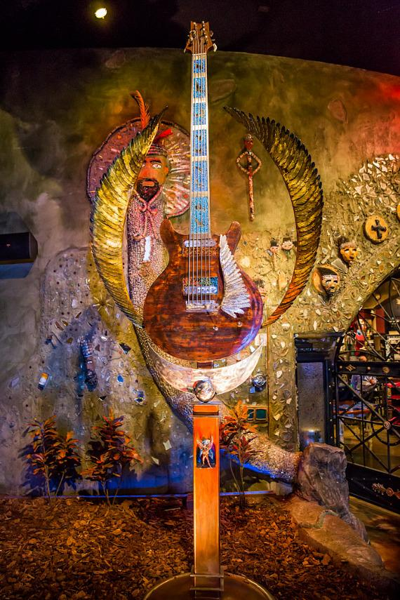 """""""Wings of Legend"""" guitar sculpture by Dale Evers"""