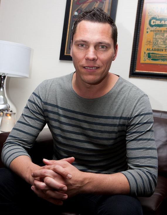 Tiesto backstage before the show