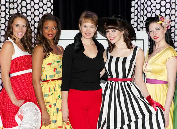 Fashion designer Tatyana, Claire Sinclair and models