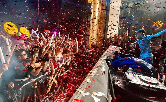 deadmau5 and fans celebrate 2012 at XS Nightclub in Las Vegas