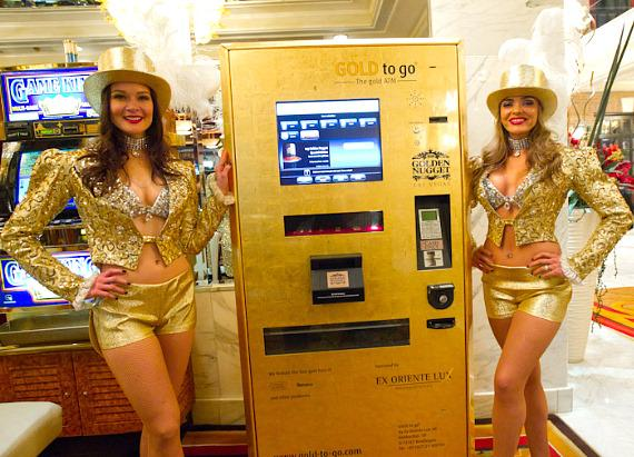 Gold Showgirls with GOLD to Go ATM