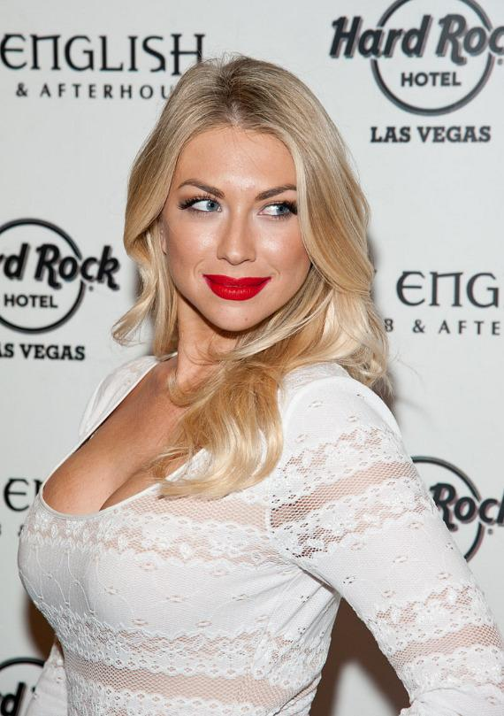 "Stassi Schroeder of Bravo's ""Vanderpump Rules"" on red carpet at Hard Rock Hotel & Casino Las Vegas"