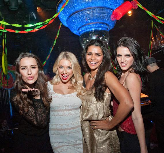 Kristina Kelly, Stassi Schroeder, Jennifer Bush & Brooke Chenery at Hard Rock Hotel & Casino Las Vegas