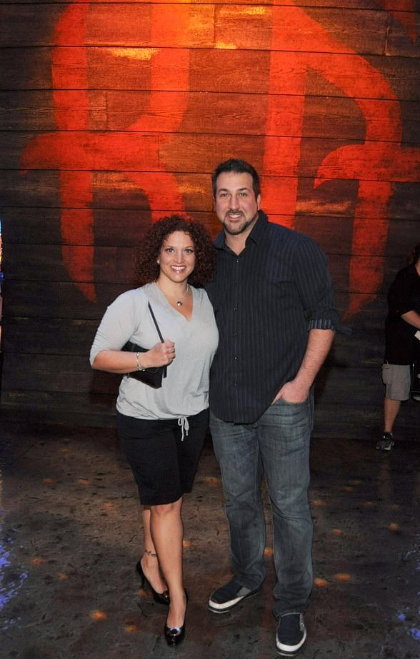 Joey and Kelly Fatone at KÀ by Cirque du Soleil at MGM Grand Las Vegas