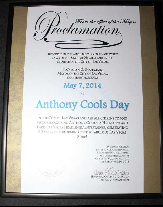Anthony Cools 20th Anniversary