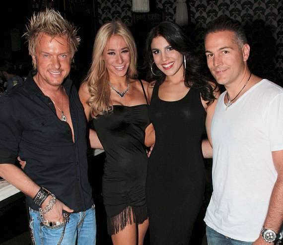 Chris Phillips & Lydia Ansel of Zowie Bowie with Christina Amato and Marco Traniello