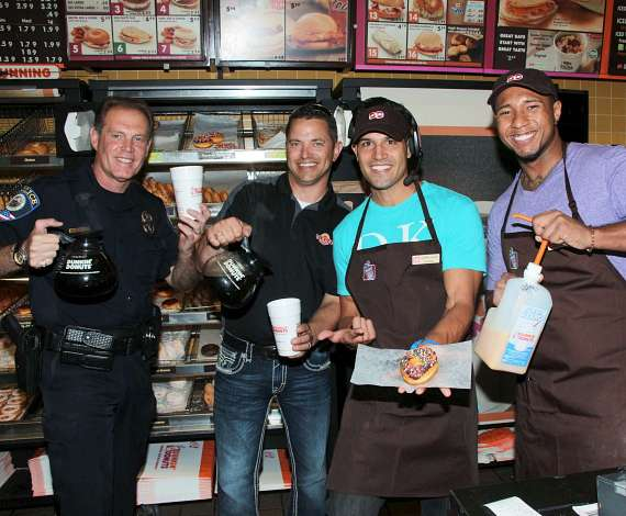 BMX Pro Ricardo Laguna helps out at at Dunkin' Donuts to benefit Nevada Childhood Cancer Foundation