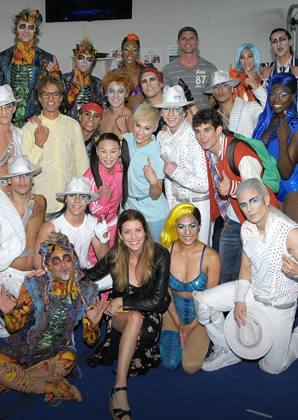 Kate Walsh Attends Michael Jackson ONE by Cirque du Soleil at Mandalay Bay in Las Vegas