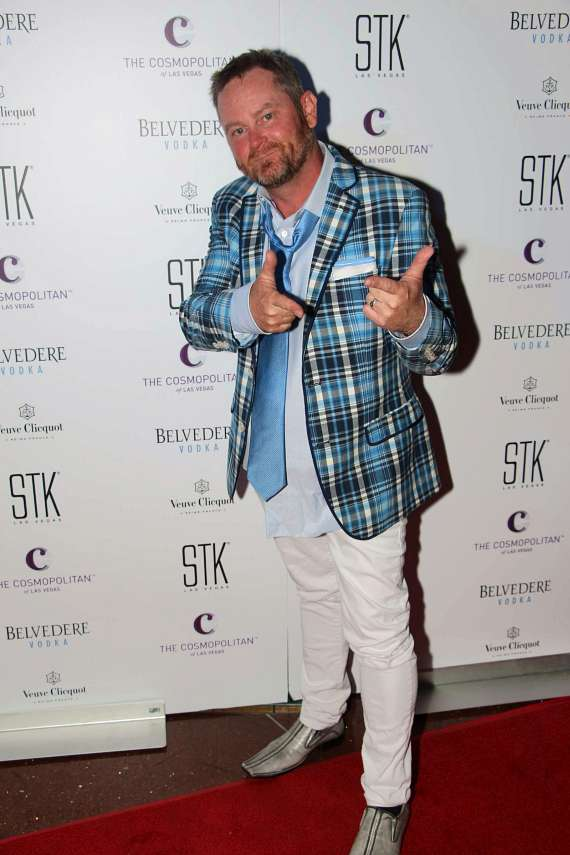Chef Stephen Hopcraft on red carpet at STK 3-Year Anniversary
