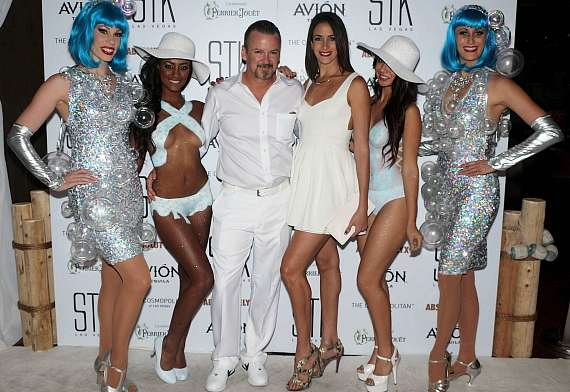 Troy and Yesiney Burgess at STK White Party