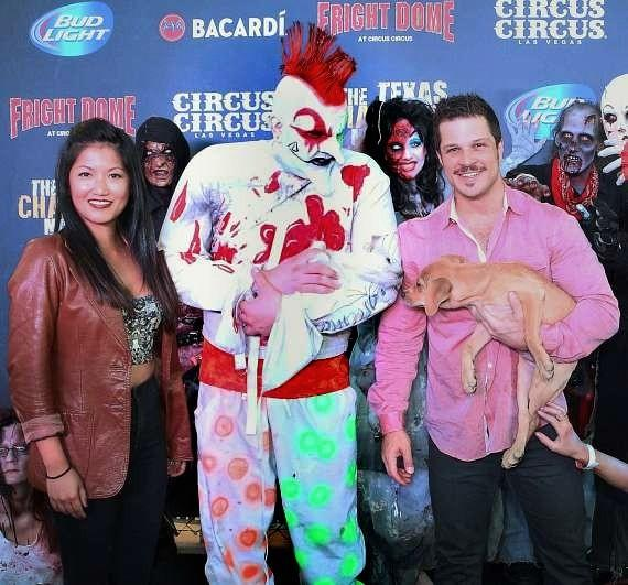 Star of Rock of Ages and Mondays Dark, Mark Shunock and wife Cheryl Daro