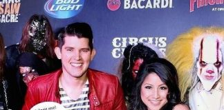 Ben Stone and Jasmine Trias at Fright Dome Grand Opening
