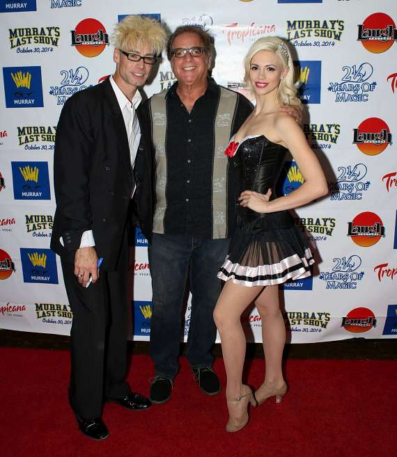 "Murray and Chloe with Ron Carr, producer of Murray's new show, ""Have Magic, Will Travel"""