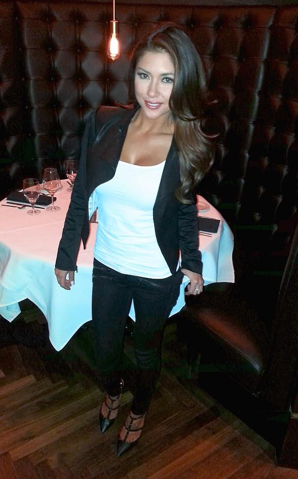 Arianny Celeste Dines at Andiamo Italian Steakhouse in the D Las Vegas