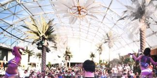 New Year's Day Pool Party Under Marquee Dayclub Dome